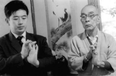Hatsumi and Takamatsu Sensei